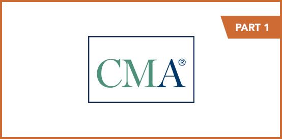 CMA Program Exam Part 1 September and October 2021 Registration